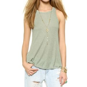 Free People Long Beach Tank Sage